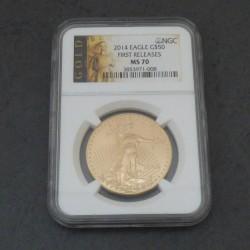US 50$ 2014 Gold Eagle MS70...