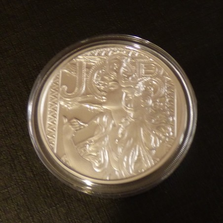 US Round Mucha Collection JOB 1oz silver 99.9% PROOF