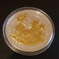 UK 2£ Britannia 2009 gilded...