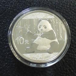 China 10 yuans Panda 2017...
