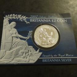 UK 2£ Britannia 2007 silver...