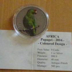Ghana 5 Cedis 2016 Parrot...