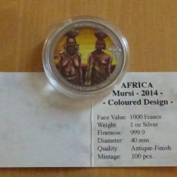 Congo 1000 CFA MURSI 2014...