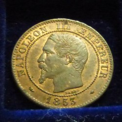France 2 cents 1853 MA...