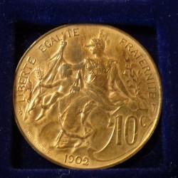 France 10 cens 1902 Bronze...