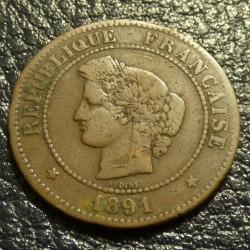 France 5 cents Dupuis 1891...