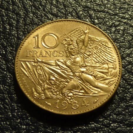 France 10 Francs 1984 RUDE cupro-nickel MS