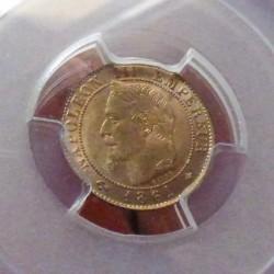 France 1 cent 1861A Bronze...