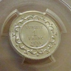 Tunisia 1 Franc 1914...