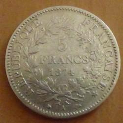 France 5 Francs 1874A F / S...