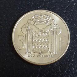 MONACO 5 Francs 1966 (XF+)...