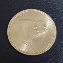 Denmark 10 Kroner 1967...