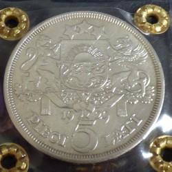 Latvia 5 lati 1929 EF+...
