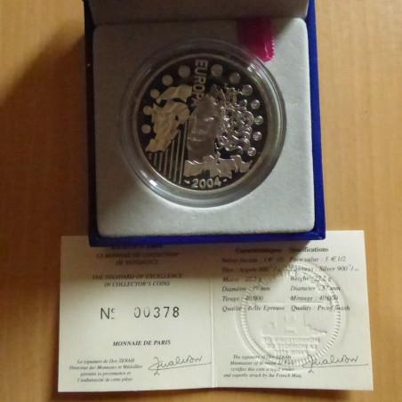 France 1.5 euros 2004 EUROPA PROOF silver 90% (22.2 g) Box+CoA