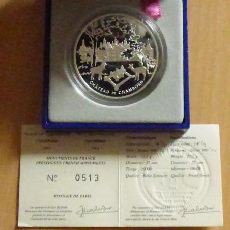 France 1.5 euros 2003 Chambord PROOF silver 90% (22.2 g) Box+CoA