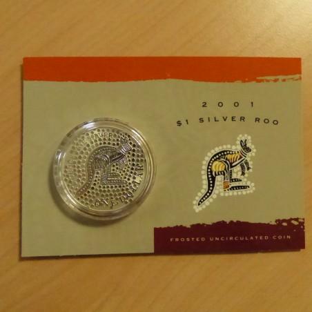 Australia 1$ Kangaroo RAM 2001 silver 99.9% 1 oz in Blister