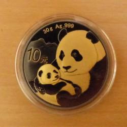 China 10 yuans Panda 2019...