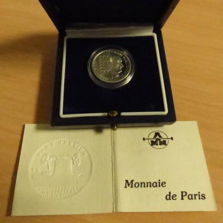France 10 francs 1986 Schuman PROOF silver 95% (7 g)+Box+CoA