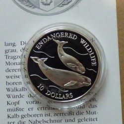Niue 10$ 1992 Whales PROOF...