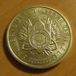 Round Silver Shield Silver...