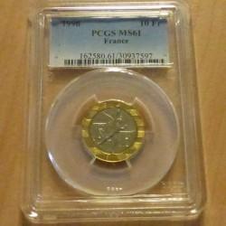 France 10 francs 1996 Génie...