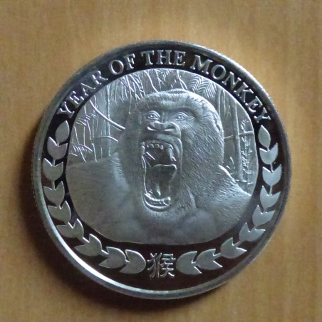 Somaliland 1000 schillings 2016 Year of the Monkey silver 99.9% 1 oz Prooflike