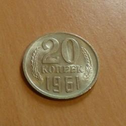 Russia 20 Kopek 1961 AU+...