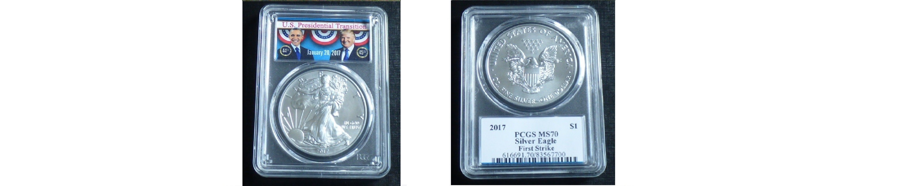 Silver Eagle 2017 PRESIDENTIAL TRANSITION MS70